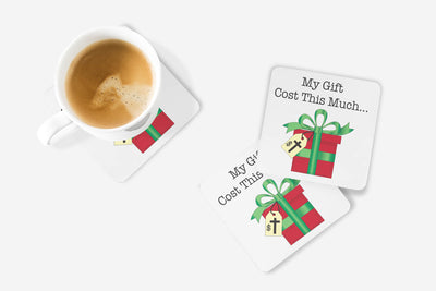 SET OF 4 Coasters with Christmas Gift