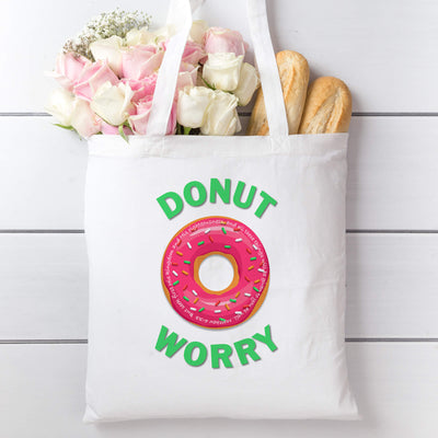 Tote Bag with Donut Worry Design