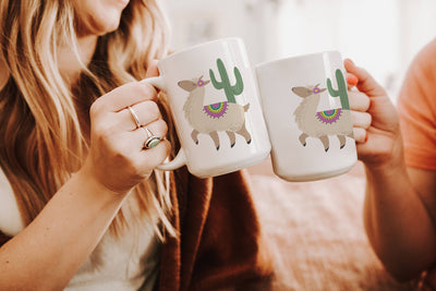 Mug with Alpaca Design