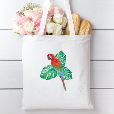 Tote Bag with Tropical Bird