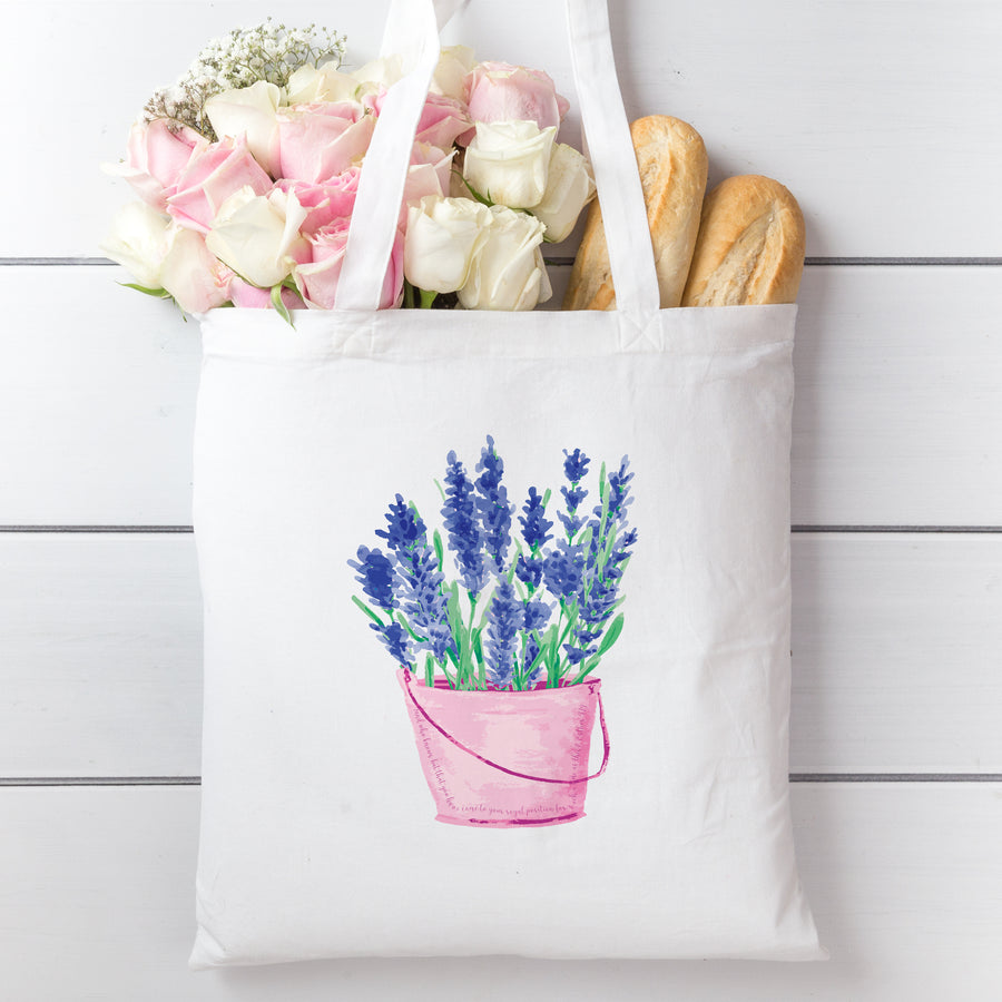 Tote Bag with Lavender