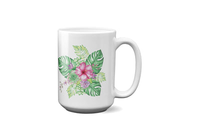 Mug with Tropical Design