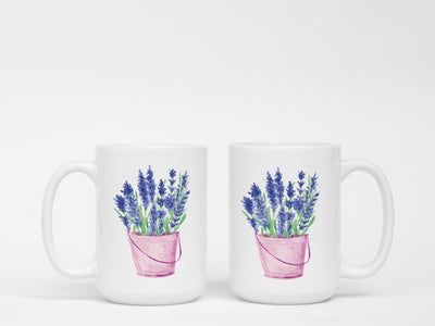 SET OF 15oz Mugs with Lavender