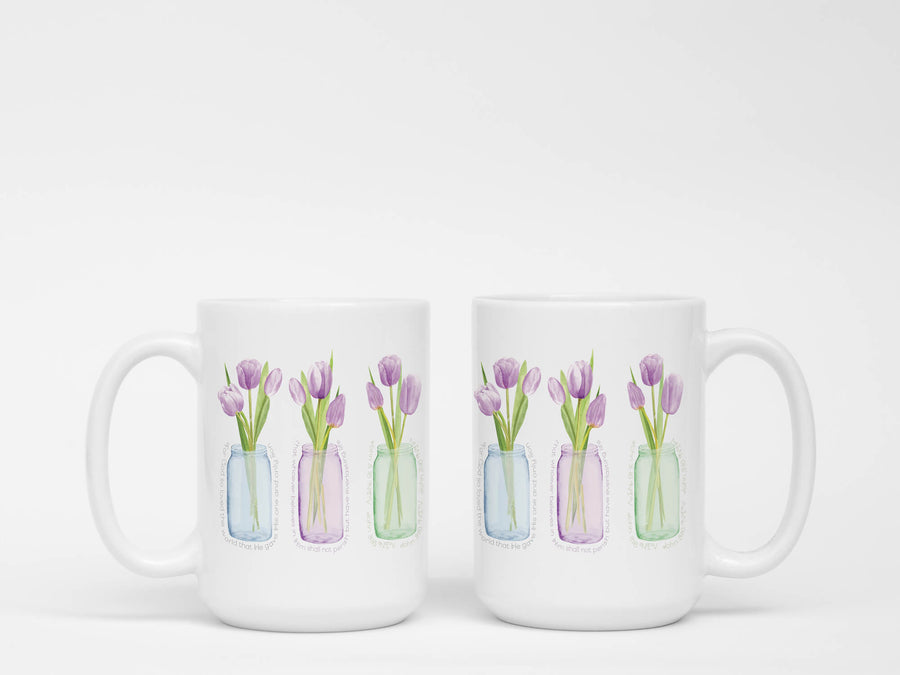 Mug with Purple Tulips