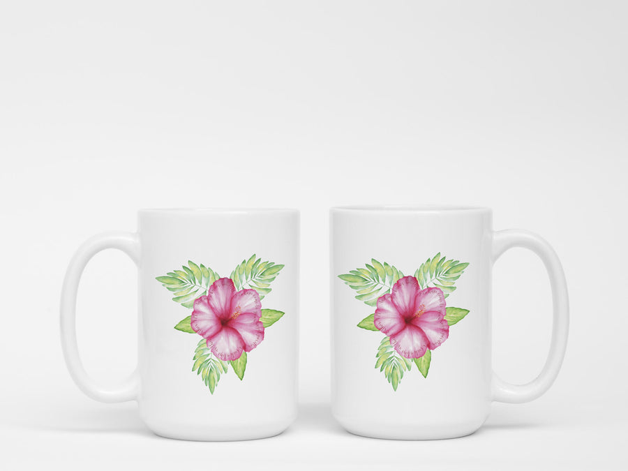 Mug with Tropical Flower