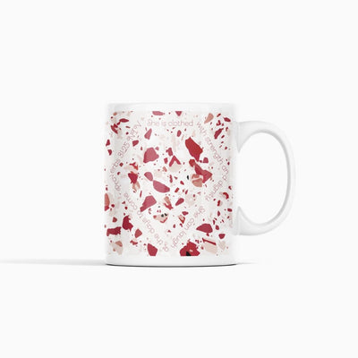 Mug with Red Terrazzo Design