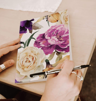 Journal with Floral Design