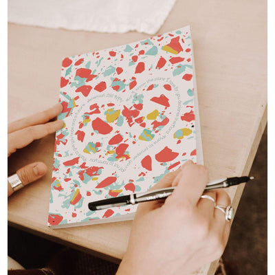 Journal with Coral Terrazzo Design