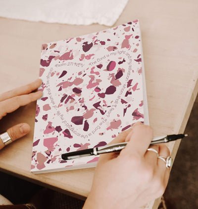 Journal with Rose Pink Terrazzo Design