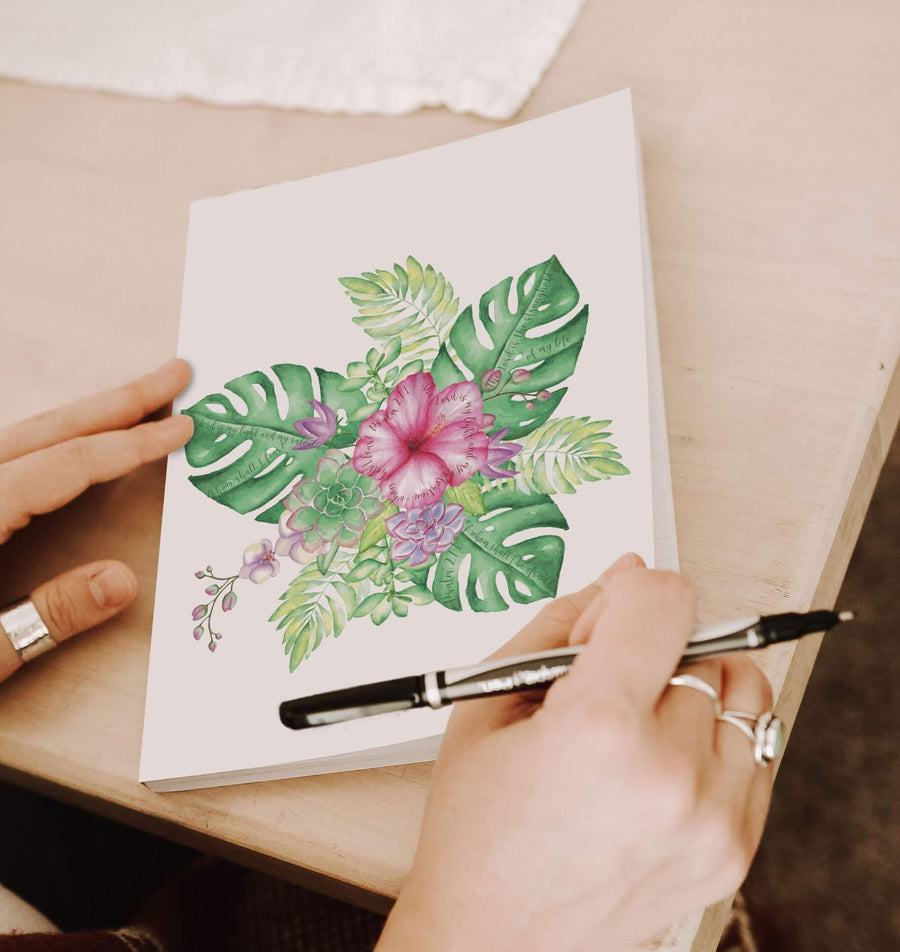 Journal with Tropical Design