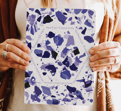 Journal with Violet Terrazzo Design