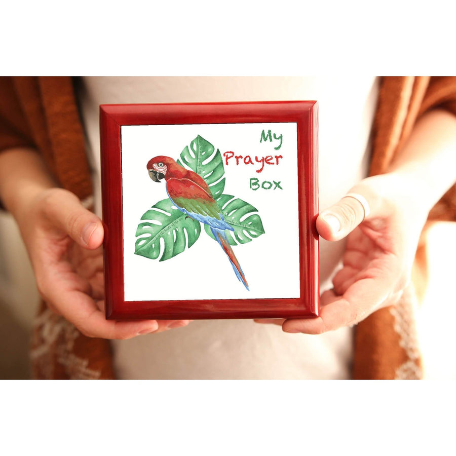 Prayer Box with Tropical Bird