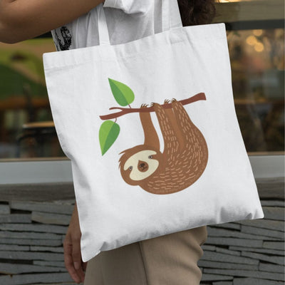 Tote Bag with Sloth Design