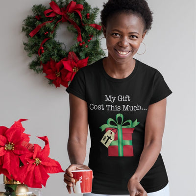 Women's Short Sleeve Tee with Christmas Gift