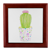 Prayer Box with Barrel Cactus Design