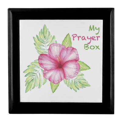 Prayer Box with Tropical Flower