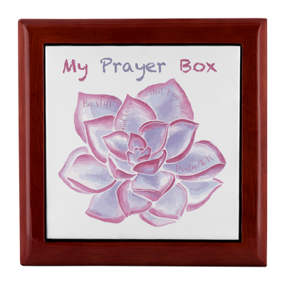 Prayer Box with Purple Succulent