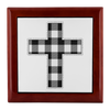 Prayer Box with Buffalo Check Cross Design