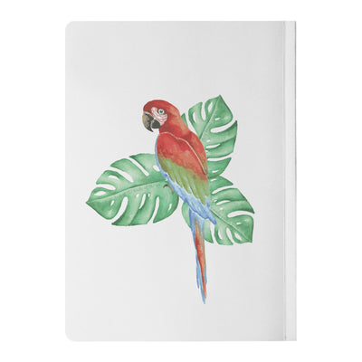 Journal with Tropical Bird Design