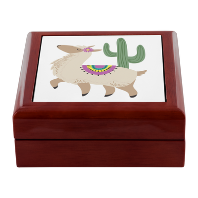 Prayer Box with Alpaca Design