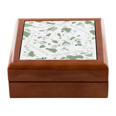 Prayer Box with Sage Green Terrazzo Design