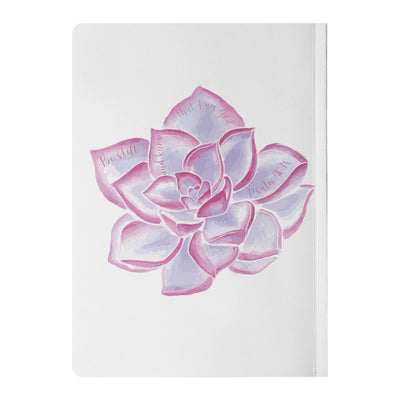 Journal with Purple Succulent Design