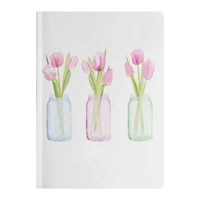 Journal with Pink Tulip Design
