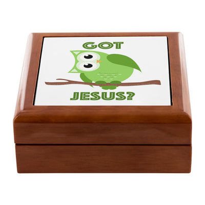 Prayer Box with Green Owl Got Jesus