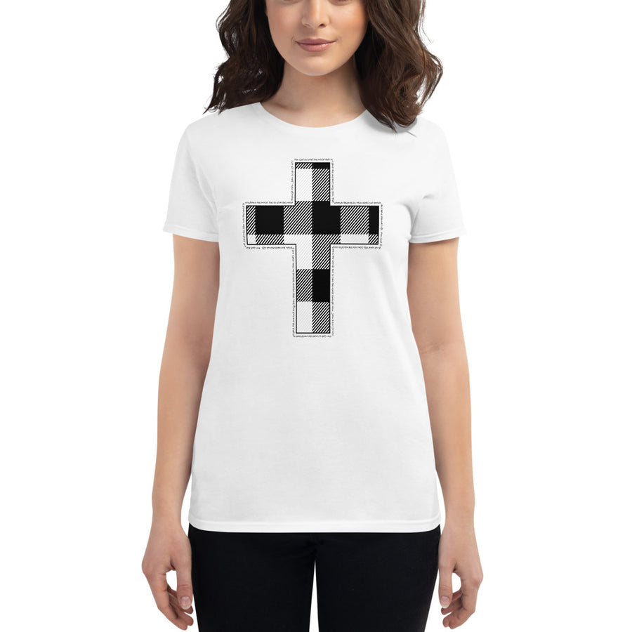 Women's short sleeve t-shirt with Cross