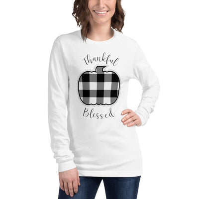Christian Long Sleeve Tee Thankful Blessed
