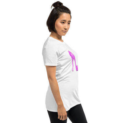 Short Sleeve Christian Tee with Pink Shoe