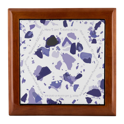 Prayer Box with Violet Terrazzo Design
