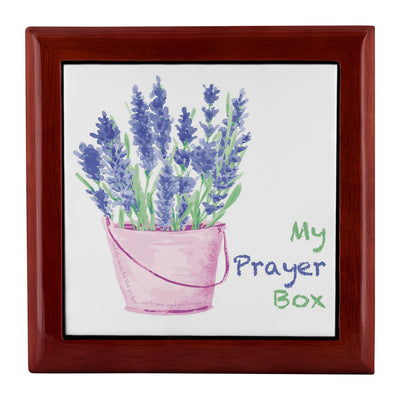 Prayer Box with Lavender Design
