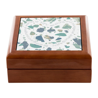 Prayer Box with Beach Terrazzo Design