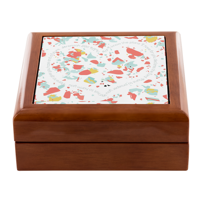 Prayer Box with Coral Terrazzo Design
