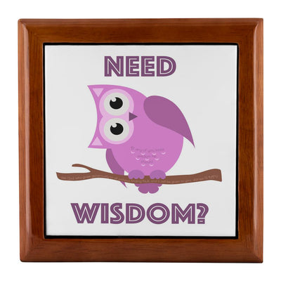 Prayer Box with Purple Owl Need Wisdom