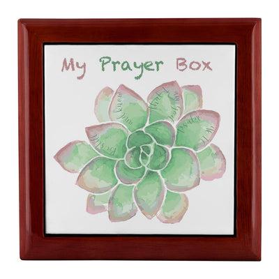 Prayer Box with Green Succulent