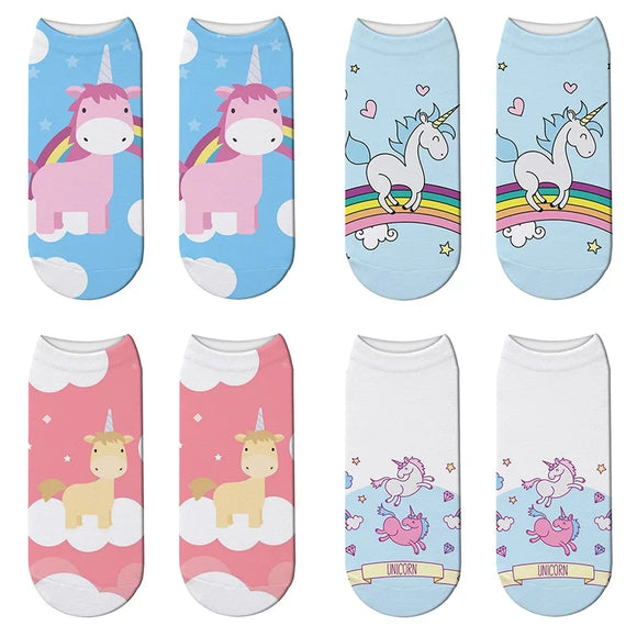 4 Pack of Unicorn Socks