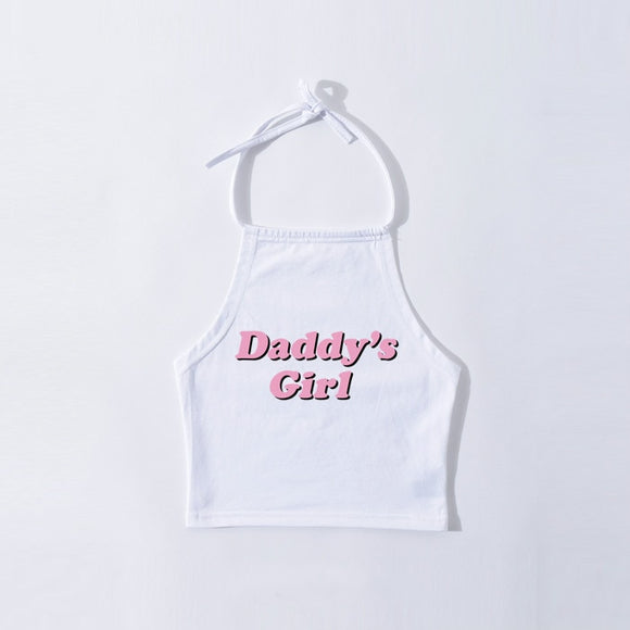 Daddy's Girl Halter (White)