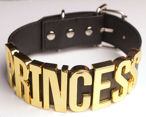 Princess Collar (Black/Gold)