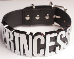 Princess Collar (Black/Silver)