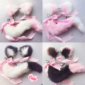 Fluffy Kitty Tail Plug & Ears