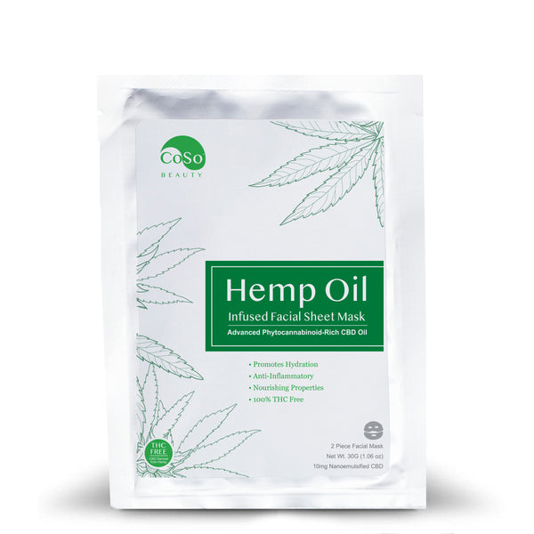 CBD Infused Cellulose Facial Sheet Mask - 10MG CBD/Mask