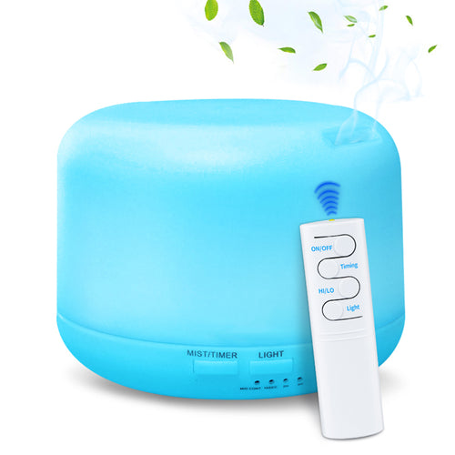 Portable USB Essential Oil Diffuser with Remote Control, Cool Mist Quiet and Safety