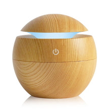 Load image into Gallery viewer, FREE 130ml Mini USB Humidifiers Aromatherapy Oil Diffuser - Wood Grain