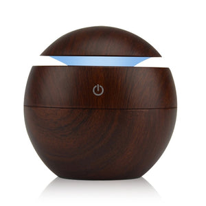 FREE 130ml Mini USB Humidifiers Aromatherapy Oil Diffuser - Wood Grain