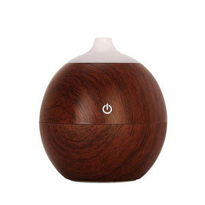 FREE 130ml Aroma essential oil diffuser USB ultrasonic wood Air Humidifier