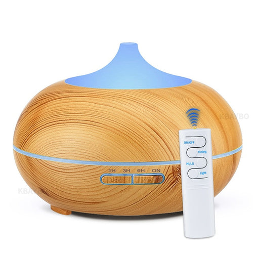 550ml USB Air Humidifier Aroma Diffuser Remote Control 7 Colors Changing