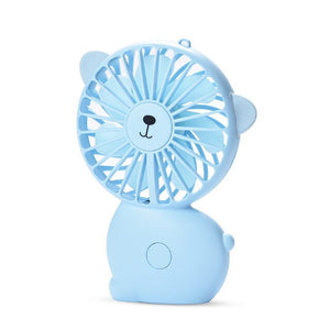 Mini USB Fan Portable Charged Fan with 7 Changing Color LED