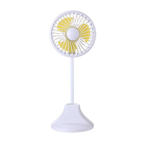 Mini Fan with Lamp Mobile Phone Holder